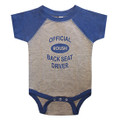 Roush Heather Gray/Royal Blue Back Seat Driver Onesie (3484)