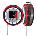 Roush Square R Chrome Neon Clock (3505)