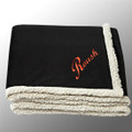 "Roush Black 50"" x 60"" Sherpa Blanket (3492)"