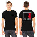 Roush Unisex Black Square R T-Shirt (3475)