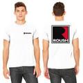 Roush Unisex White Square R T-Shirt (3477)