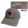 Roush Square R Charcoal Heather Jersey Hat (3478)