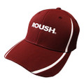 Roush Maroon/White Colorblock Flex Fit Hat (3508)