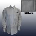 Roush Mens White/Blue Stripe Long Sleeve Dress Shirt (3506)