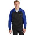 Roush Moisture Wicking Blk/Blue Varsity Full Zip Hoodie (3539)
