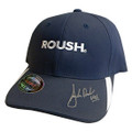 ROUSH Signed Navy Flex Fit Hat (3611)