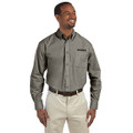 Roush Mens Gray Poplin Long Sleeve Dress Shirt (3632)