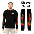 Roush Racing Mens Black Flame Long Sleeve Shirt (3666)