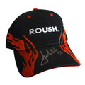 Roush Signed Black/Red Flame Hat (3677)