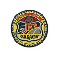 J.R.'S Garage Round Iron-On Patch (3684)