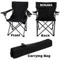 Roush Black Folding Chair with Cup Holders (3707)