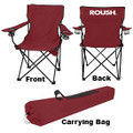 Roush Maroon Folding Chair with Cup Holders (3710)