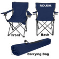 Roush Navy Folding Chair with Cup Holders (3711)
