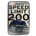 Nascar Driver Signed Speed Limit 200 Sign (3879)