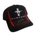 Mustang Signed Tri-Bar Black Mesh Hat (3877)