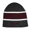 Roush Charcoal/Maroon Stripe Knit Hat (3873)