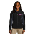 Roush Ladies Lightweight Black/Gray Jacket (Fitted Jacket; May Run Small) (3938)