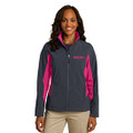 Roush Ladies Lightweight Gray/Pink Jacket (Fitted Jacket; May Run Small) (3939)