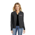 Roush Ladies Charcoal Heather Cardigan Sweater (3934)