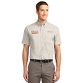 Roush P-51 Stone Short Sleeve Dress Shirt (1439)
