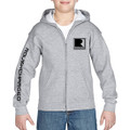 Roush Charged Light Heather Gray Youth Full Zip Hoodie (3891)