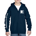 Roush Charged Navy Youth Full Zip Hoodie (3892)
