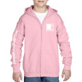 Roush Charged Light Pink Youth Full Zip Hoodie (3894)