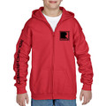 Roush Charged Red Youth Full Zip Hoodie (3895)