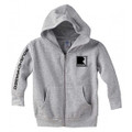 Roush Charged Light Heather Gray Toddler Full Zip Hoodie (3897)