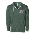Roush Speed Shop Unisex Green Full Zip Hoodie (3942)