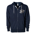 Roush Speed Shop Unisex Navy Full Zip Hoodie (3943)