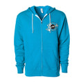 Roush Speed Shop Unisex Aqua Full Zip Hoodie (3945)