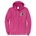 Roush Speed Shop Unisex Pink Full Zip Hoodie (3946)