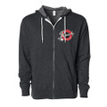 Roush Speed Shop Unisex Charcoal Heather Full Zip Hoodie (3949)