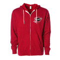Roush Speed Shop Unisex Red Full Zip Hoodie (3950)