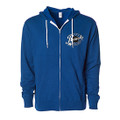 Roush Speed Shop Unisex Blue Full Zip Hoodie (3951)