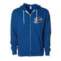 Roush Speed Shop Unisex Blue Full Zip Hoodie (3951)