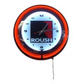 Roush Square R Small Neon Clock (3967)