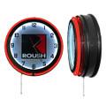 Roush Square R Carbon Fiber Neon Clock (3978)