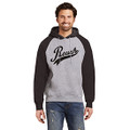 Roush Script Mens Black/Heather Gray Hoodie (3983)