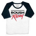 Roush Racing Toddler Black/White Baseball 3/4 Sleeve Shirt (3990)