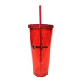 Roush Performance Red 20 oz Fuel Gauge Tumbler with Straw (3996)