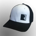 Roush White/Black Square R Mesh Back Flex Fit Hat (3994)