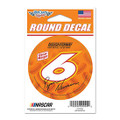 "Ryan Newman #6 Oscar Mayer 3"" Round Decal (4003)"