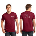 Roush Mens Heather Red Curious Mind Tee (4024)
