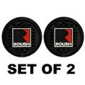 Roush Square R Rubber Coaster Set (2 Pack) (4051)
