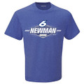 Ryan Newman Mens #6 Blue T-Shirt (4054)