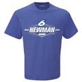Ryan Newman Mens #6 Blue T-Shirt (4054)
