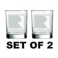Roush Square R Executive Tumblers/Rocks Glass Set (4079)