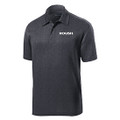 Roush Mens Heather Gray Breathable Polo (4075)